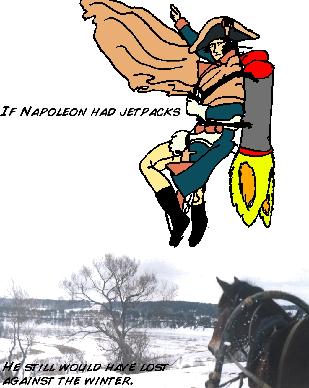 Napoleon with a jetpack